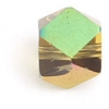 """Glass Cut Cube Facetted 6X6mm 16"""" Yellow/Multi Iris - Strung"""